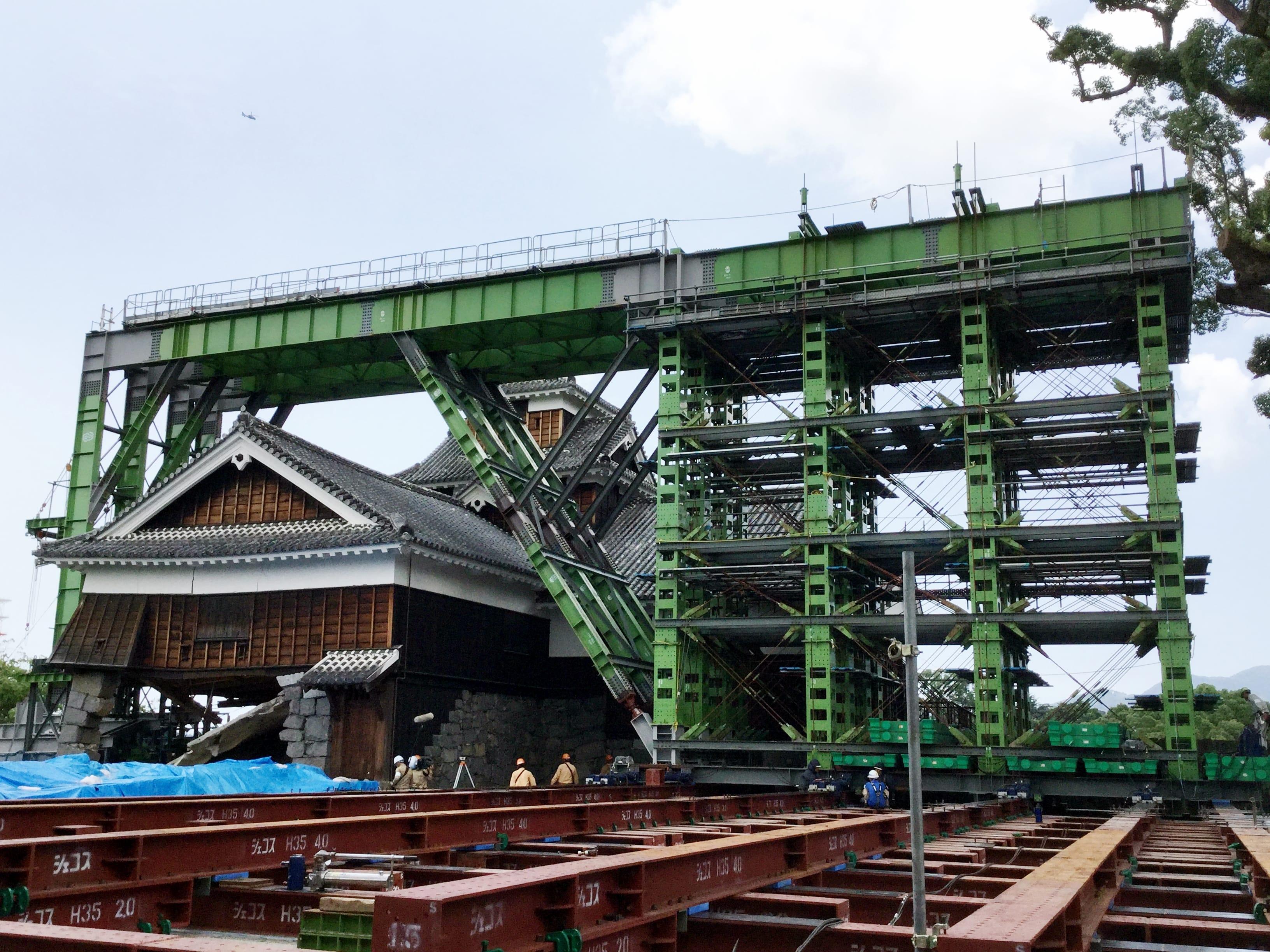 熊本城飯田丸五階櫓倒壊防止緊急対策