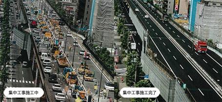 京葉道路篠崎高架橋鋼上部工桁補強