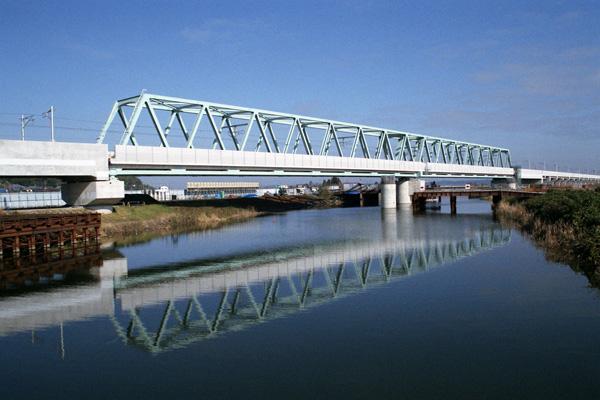成田高速線、印旛捷水路橋梁